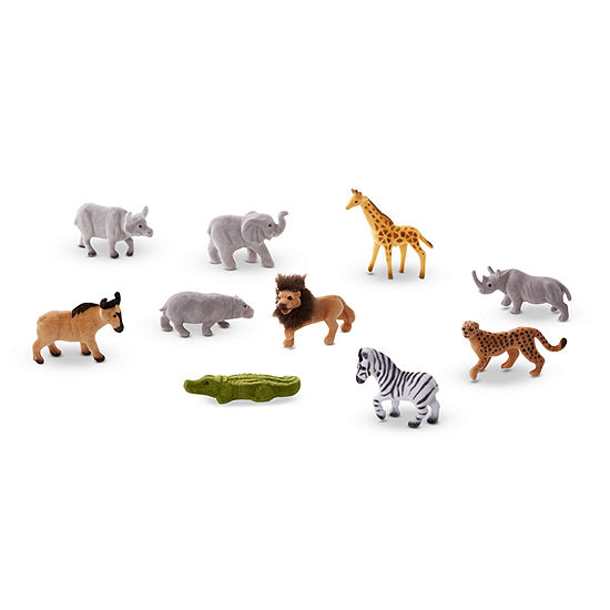 Melissa & Doug Safari Sidekicks - 10 Collectible Wild Animals Discovery Toy