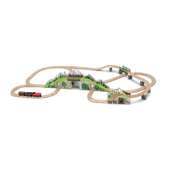 Melissa & Doug Mountain Tunnel Train Set Toy Race Track