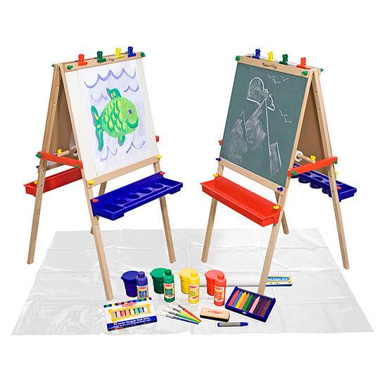 Melissa & Doug Deluxe Standing Easel W / Accessories Kids Art Set