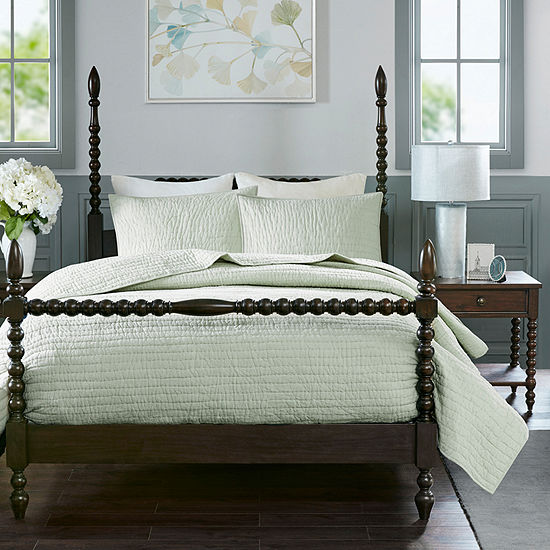 Madison Park Signature Serene 3-pc. Solid Coverlet Set