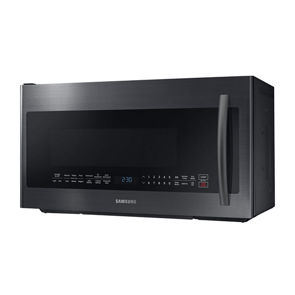 Samsung 2.1 cu. ft. PowerGrill™ Over-the-Range Microwave with Ceramic Enamel Interior and Glass Touch Controls