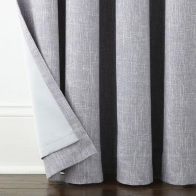 JCPenney Home Sullivan Ombre Blackout Grommet-Top Curtain Panel