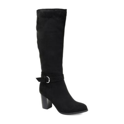 Journee Collection Womens Joelle Dress Boots Zip Stacked Heel