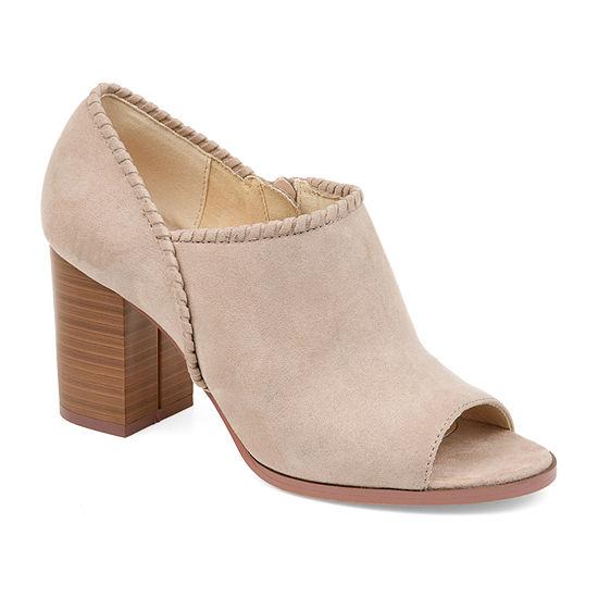 Journee Collection Womens Kimana Stacked Heel Zip Booties