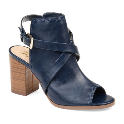 Journee Collection Womens Jc Theda Stacked Heel Buckle Booties
