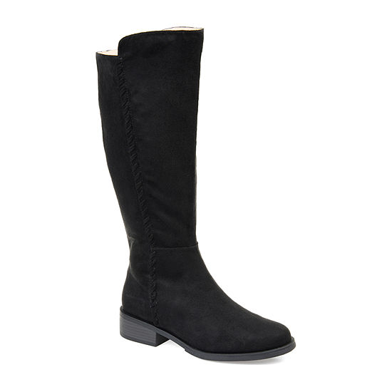 Journee Collection Womens Blakely Stacked Heel Zip Riding Boots