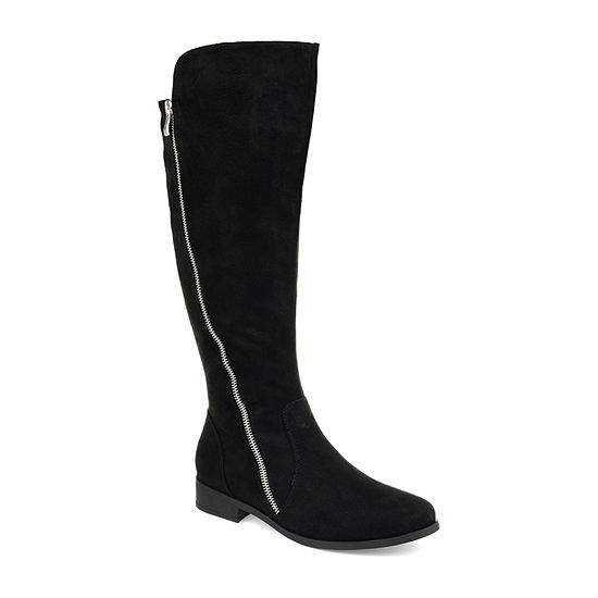Journee Collection Womens Jc Kerin Riding Boots Stacked Heel