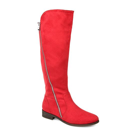 Journee Collection Womens Jc Kerin-Xwc Stacked Heel Zip Riding Boots