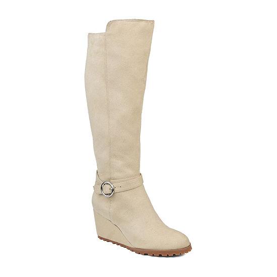 Journee Collection Womens Veronica-Xwc Dress Wedge Heel Zip Boots