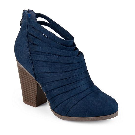 Journee Collection Womens Selena Booties Stacked Heel