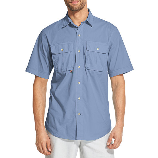 IZOD Surfcaster Short Sleeve Button-Down Shirt