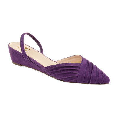Journee Collection Womens Jc Kato Pumps Slip-on Pointed Toe Wedge Heel