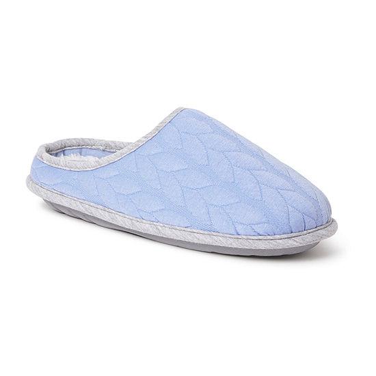 Dearfoams Ashley Quilt Clog Womens Slip-On Slippers