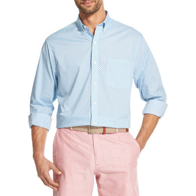 IZOD Premium Essentials Long Sleeve Button-Down Shirt