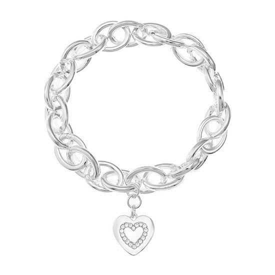 Liz Claiborne Heart Stretch Bracelet