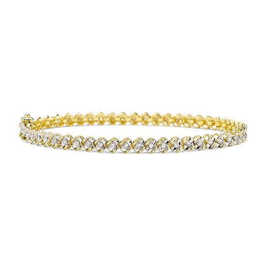 1 CT. T.W. Diamond 10K Yellow Gold Tennis Bracelet