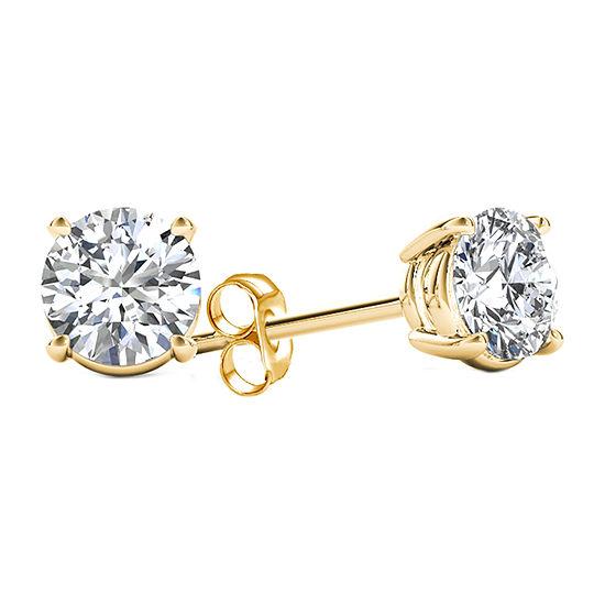 5/8 CT. T.W. Genuine White Diamond 14K Gold Stud Earrings