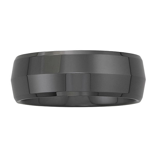 Men's 8mm Domed Band Ceramic