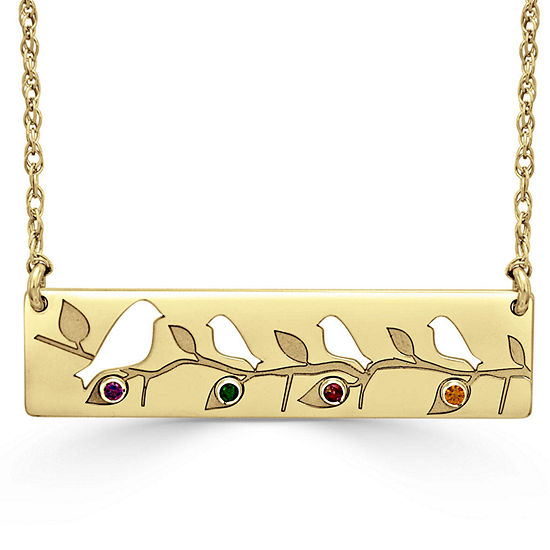 Womens Multi Color Stone 24K Gold Over Silver Round Pendant Necklace
