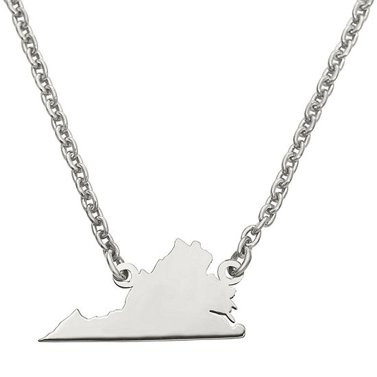 Personalized Sterling Silver Virginia Pendant Necklace