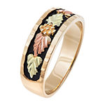 Landstroms Black Hills Gold Mens 10K Gold Wedding Band