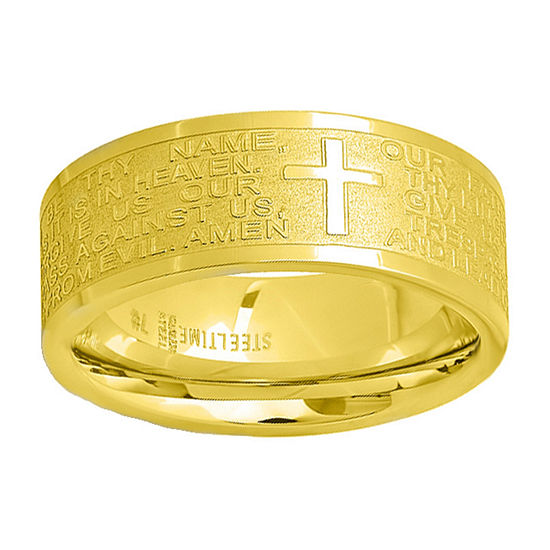Steeltime 6MM 18K Gold Stainless Steel Band
