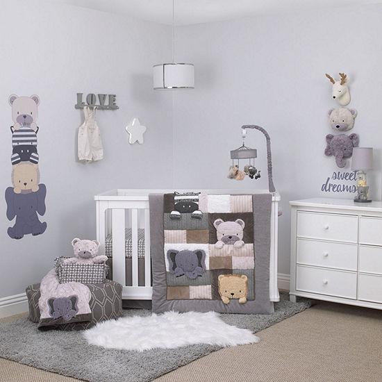 Nojo Play Day Pals 4-Pc. Crib Set 4-pc. Crib Bedding Set