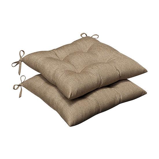 Pillow Perfect Wrought Iron Seat Cushion (Set of 2)