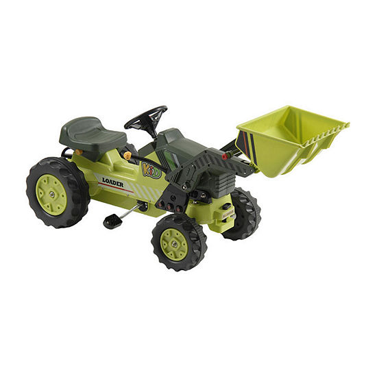 Kalee Kids Pedal Tractor With Loader Bucket Pedal Riding Toy Green