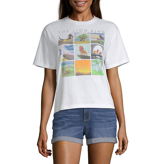 Juniors Lion King Womens Round Neck Short Sleeve The Lion King Graphic T-Shirt