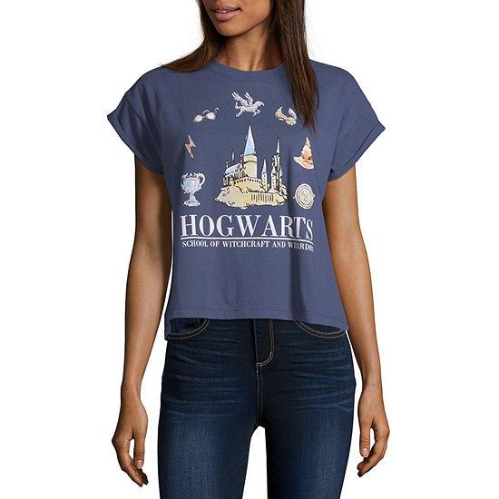 Modern Lux-Juniors Harry Potter Womens Round Neck Short Sleeve Graphic T-Shirt