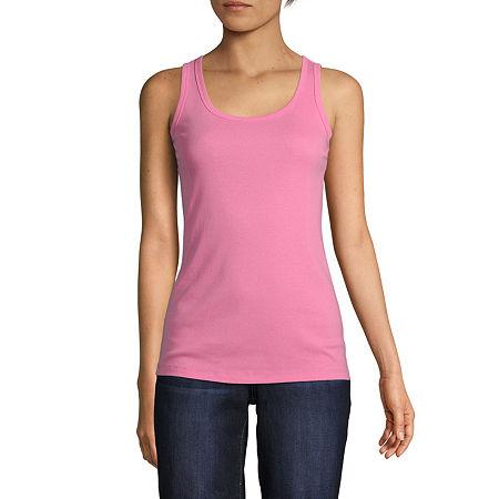 80s Tops, Shirts, T-shirts, Blouse St. Johns Bay Tall Womens Scoop Neck Sleeveless Tank Top $7.00 AT vintagedancer.com