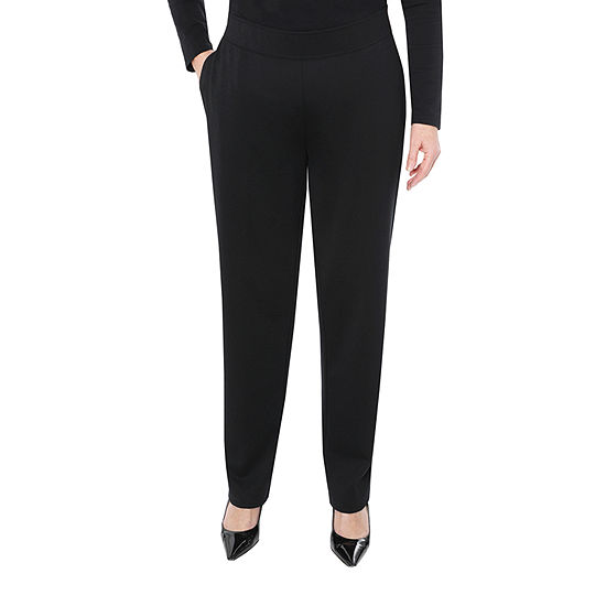 Cathy Daniels Happy Holidays Womens Mid Rise Straight Pull-On Pants