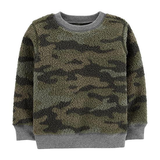 Carter's Boys Round Neck Long Sleeve Sweatshirt - Baby