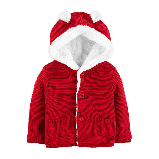 Carter's Unisex Hooded Neck Long Sleeve Cardigan - Baby