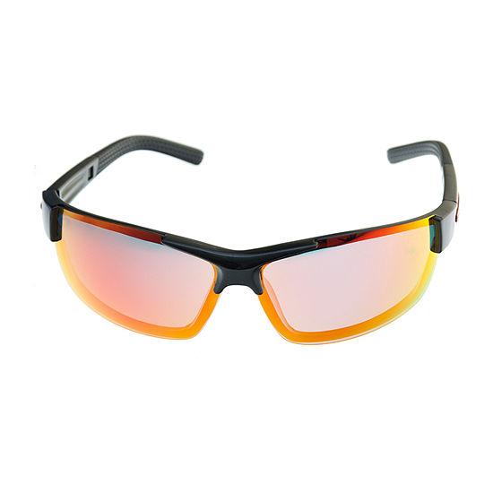 Xersion Mens Polarized Half Frame Wrap Around Sunglasses