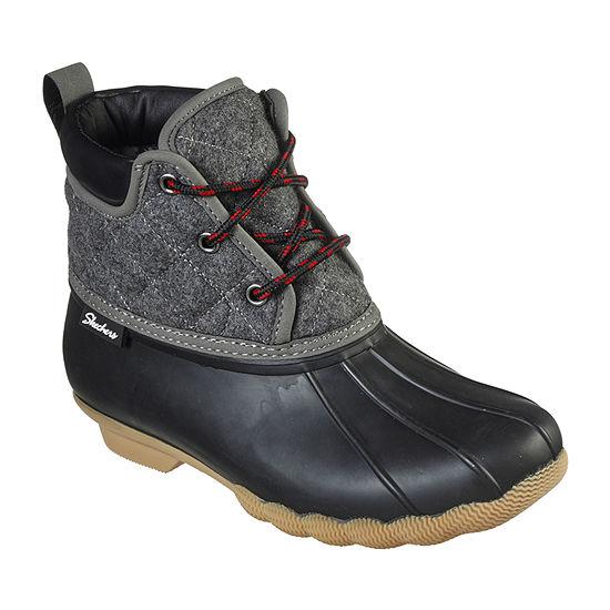 Skechers Womens Pond Lil Puddles Rain Boots Flat Heel