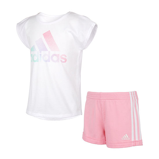 adidas Baby Girls 2-pc. Short Set