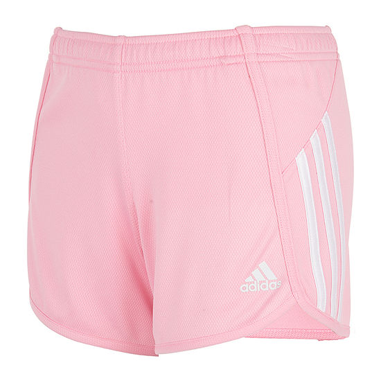 adidas Little Girls Mid Rise Adjustable Waist Running Short