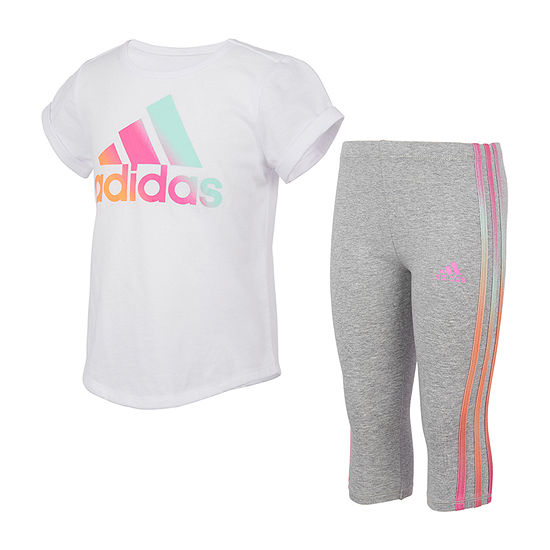 adidas Capri Little Girls 2-pc. Legging Set