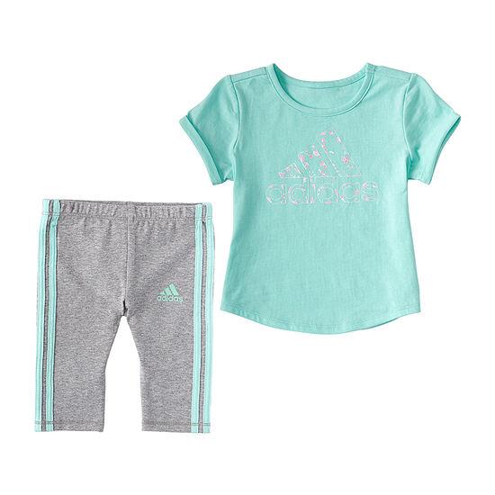 adidas Capri Little Girls 2-pc. Legging Set