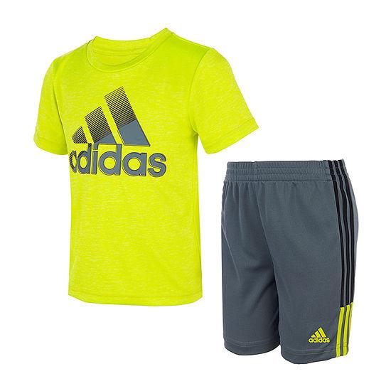 adidas Little Boys 2-pc. Short Set