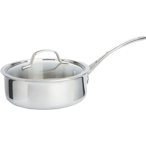 Calphalon® 2.5-qt. Tri-Ply Stainless Steel Shallow Saucepan