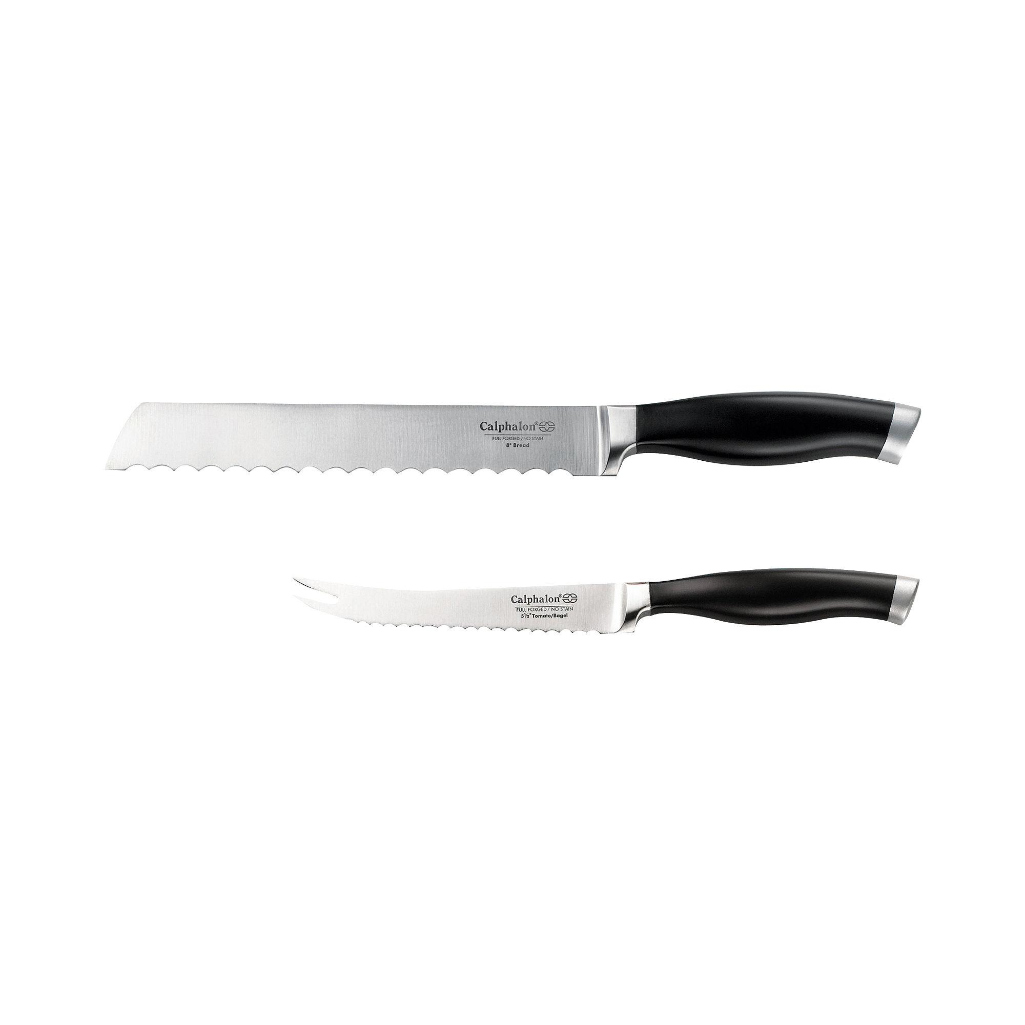 Calphalon Contemporary Bread & Bagel/Tomato Knife Set