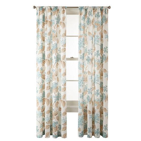 MarthaWindow™ Hydrangea Rod-Pocket Cotton Curtain Panel