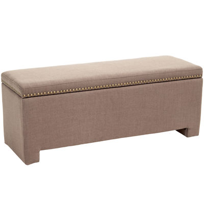 Eboni Storage Bench with Nailhead Trim