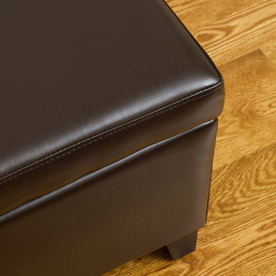 Marshall Bonded Leather Storage Bench