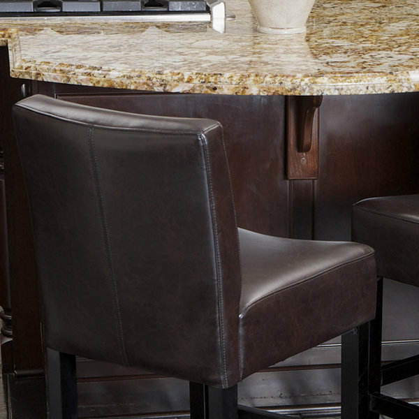 Kirby Set of 2 Bonded Leather Barstools