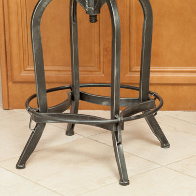 Tanner Adjustable Antiqued Iron Barstool