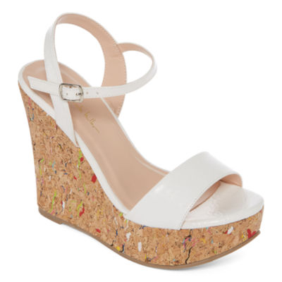 N By Nicole Miller Valerie Womens Wedge Sandals